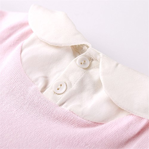 Auro Mesa Newborn Baby Clothes Infant Baby Pink Blue Knitting Romper Winter Infant Clothing (3-6M, Pink) by Auro Mesa (Image #8)