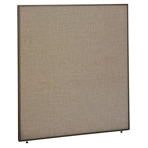 Tan Fabric Taupe Trim Panels - Office Partition Walls -