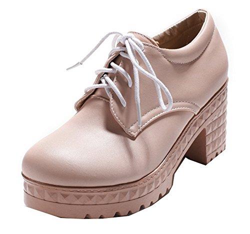 Puro Luccichio Rosa Ballet Allacciare Flats VogueZone009 Donna Chiusa Punta Aq665w