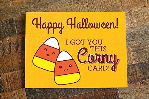 1x Funny Halloween Card - Candy Corn Pun