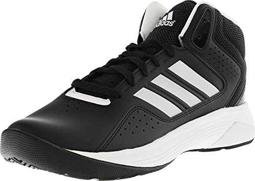 adidas NEO Men's Cloudfoam Ilation Mid Wide Basketball Shoe, Black/Matte Silver/White, 9 W US
