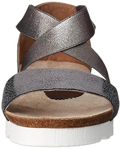 Sandalo Piatto Da Donna In Peltro Color Pantera