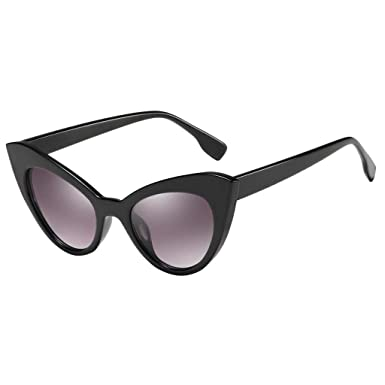 P Prettyia Gafas de Sol Ojos de Gato Lentes Oblicuas Anti-UV ...