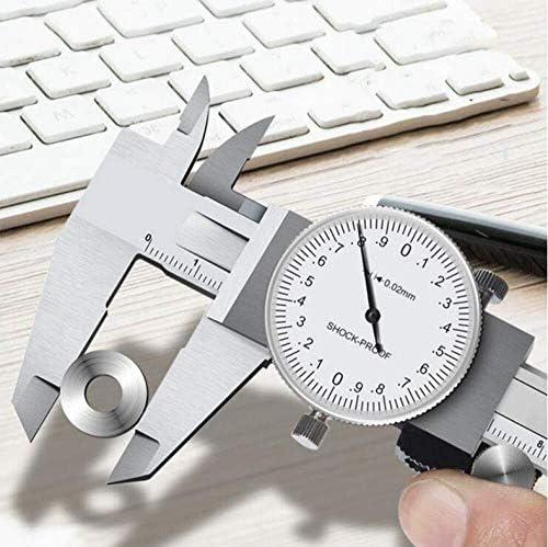 Caliper 0-150/200Mm Metric Gauge Measuring Tool Dial Vernier Caliper Shock-Proof Vernier Caliper (Size : 0-150MM)
