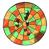 OOFIT 39 inch Target Toss Fun Inflatable Dart Board with 4 Balls, Toss Game Indoor Outdoor, Ideal for Camping, Picnic, Garden Party,round