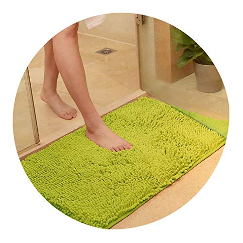 Bath Mat Memory Carpet Rugs Toilet Funny Bathtub Room Living Room Door Stairs Bathroom Foot Floor Mats,Green,50X120Cm