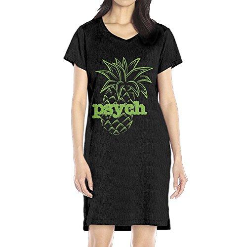 Brandy Melville Halloween Costumes (Hoeless Psych Pineapple Women's Short Sleeve Casual T-Shirt Dress SBlack)
