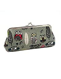 Micom Cute Owl Hasp Coin Purse Wallet for Women Vintage Clasp Clutch Cosmetic Bags (Grey Owl)