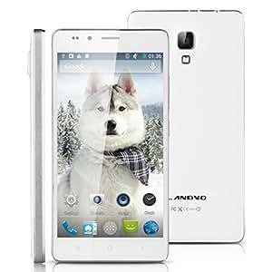 5 '' LANDVO L500S 3G Smartphone Android 4.4 MTK6592 1.4GHz Octa Core Mobile Phone RAM 1G 8G ROM GPS WIFI del teléfono móvil inteligente Wake Gesto Aire Blanco