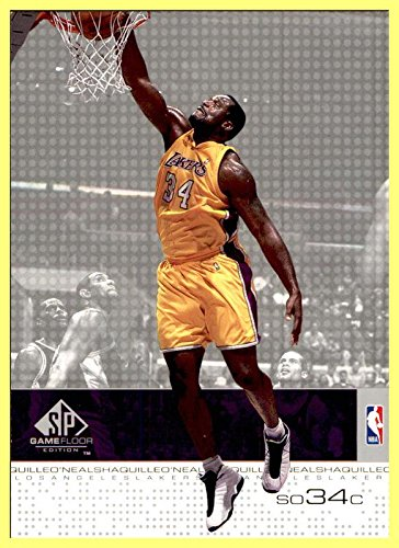 - 2000-01 SP Game Floor #26 Shaquille O'Neal LOS ANGELES LAKERS LSU TIGERS