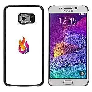 Paccase / SLIM PC / Aliminium Casa Carcasa Funda Case Cover para - fire logo - Samsung Galaxy S6 EDGE SM-G925