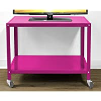Urban Shop Rolling TV Cart, Pink