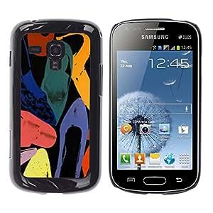 iKiki Tech / Estuche rígido - Abstract Art Colors Watercolor - Samsung Galaxy S Duos S7562