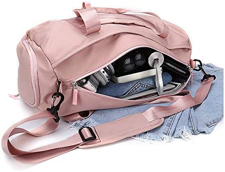 workout duffel compartment sports pocket product image