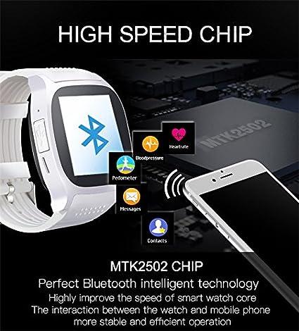 hangang B T8 M reloj inteligente con ritmo cardíaco monitor presión arterial Passometer Bluetooth 4.0 SmartWatch Hombres Mujeres Reloj para Android OS, ...
