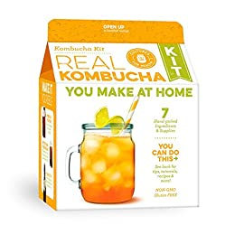 Kombucha Starter Kit | Cultures for Health | Everything you need to make delicious, sparkling probiotic tea | Heirloom, Non-GMO 39 Great for beginners! Probiotic-rich Make kombucha in your kitchen indefinitely!