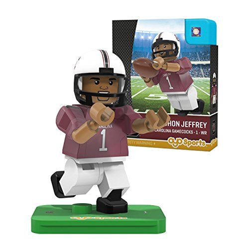 NCAA South Carolina Fighting Gamecocks Alshon Jeffrey Gen 2 Player Mini Figure, Small, Black by OYO