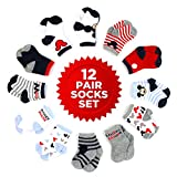 Disney Baby Boys' Mickey and Minnie Mouse Assorted Color Pair Socks Set, Red, Black, White Collection, 6-12 Months