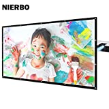 Rear Projector Screen 100 inch Film Outdoor Back Projection Movie Screen PVC Material with Grommets with 2.1 Gain (100 inch)