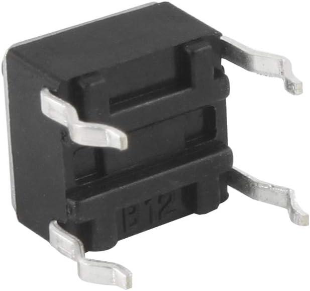 Larcele 160 Pi/èces 8 Types 6x6x5mm Bouton Poussoir Momentan/é Tactile Kit Assortiment de Bouton Poussoir Micro Tact ANKG-04