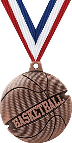 バスケットボールメダル – 2インチのブロンズ製バスケットボール、銀河メダル賞プライム。 B07GR97CXQ  20