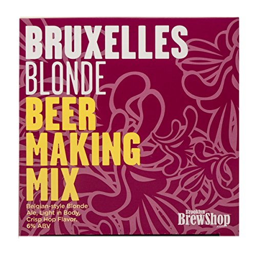 Brooklyn Brew Shop Bruxelles Blonde Beer Making Mix: All-Grain Beer Making Mix Including Malted Barley, Hops And Yeast - Perfect For Brewing Craft Beer On Your Stove at Home