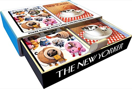 New Yorker Dog and Cat Playing (Dog Playing Cards)