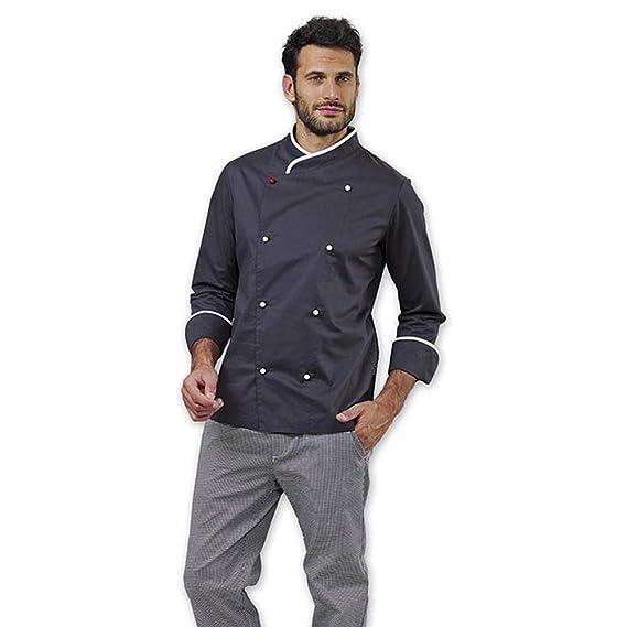 Giacca Cuoco Chef Grigio SIGGI Floyd Novita   Amazon.it  Abbigliamento e38f5726f67c