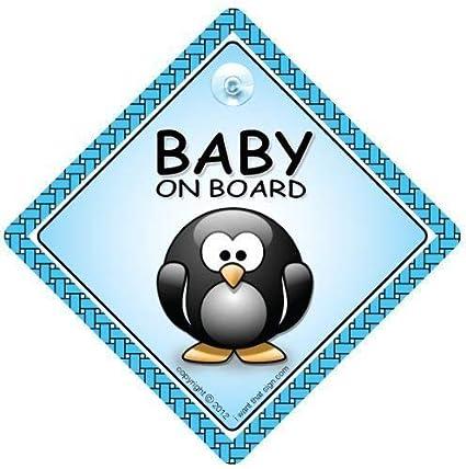 Bebé a bordo señal de coche, bebé a bordo señal , pingüino ...