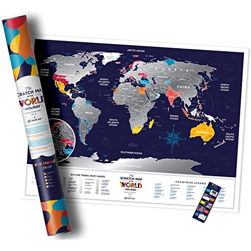 Deluxe silver scratch off map travel edition 80 x 60 cm large deluxe silver scratch off map travel edition 80 x 60 cm large places ive been holiday world travel map great scratchable world map gift laminated gumiabroncs Gallery
