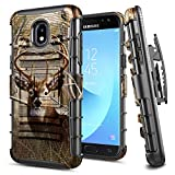 E-Began Galaxy J7 2018 Case, J7 Star/J7 V 2nd Gen/J7 Refine/J7 Crown/J7 TOP, Belt Clip Holster Kickstand Protective Hybrid Cover Heavy Duty Armor Defender Shockproof Case for Samsung J7 2018 -Deer