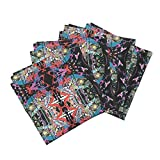 Roostery Mosaic Art Swirls Mirror Modern Busy Costume Event Theater Organic Sateen Dinner Napkins Everything But The by Whimzwhirled Set of 4 Cotton Dinner Napkins Made