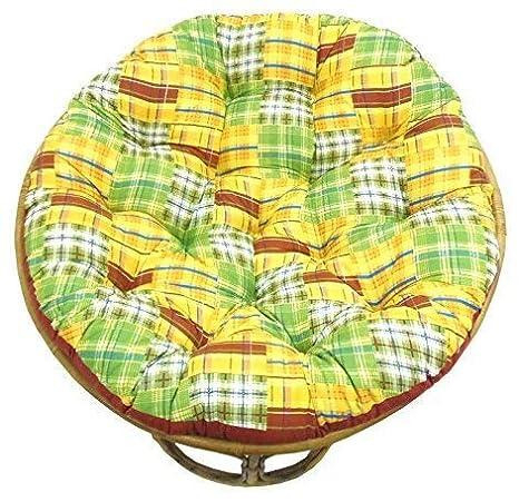 Amazon.com: Cotton Craft. Papasan. Cojín para silla ...