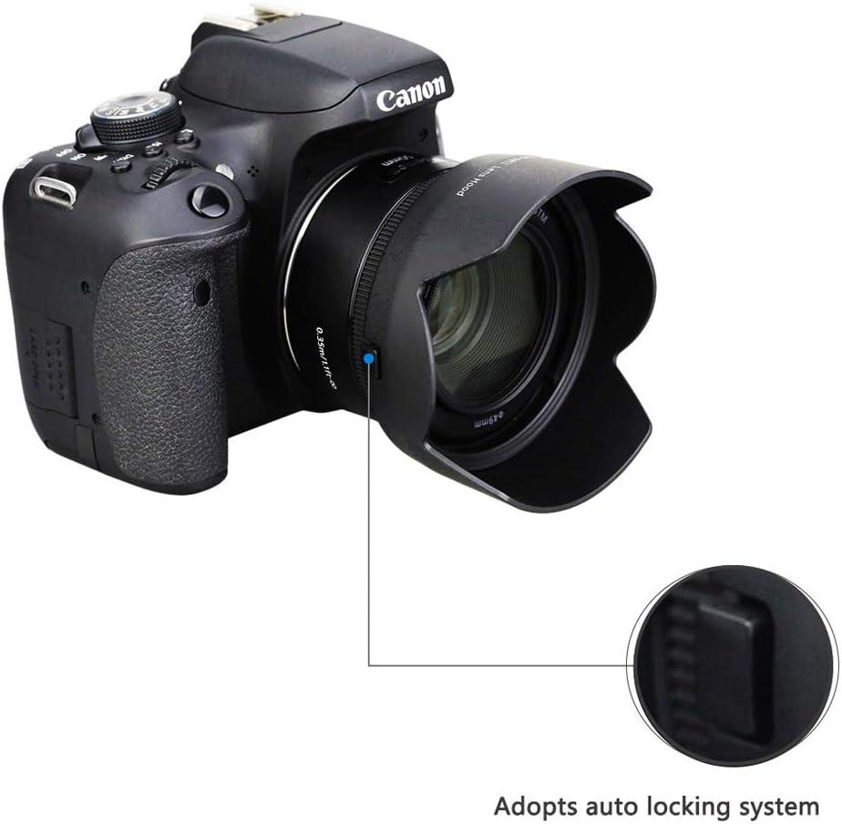 Gegenlichtblende Und Uv Filter Passend Für Canon Ef 50 Kamera