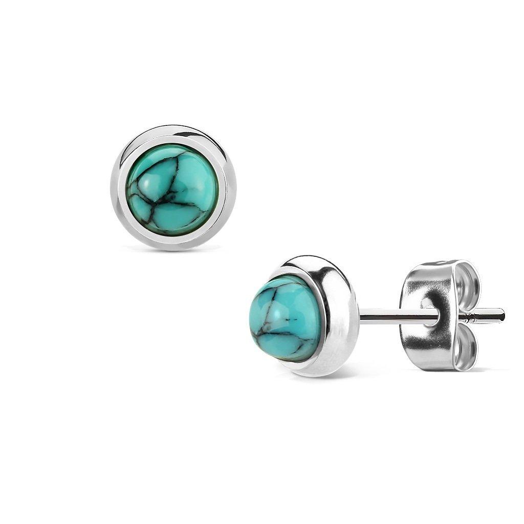 1 paire de boucles d'oreilles Beautiful Things - En acier chirurgical - Avec pierres semi-précieuses - Pour femme Beyoutifulthings SE1004_Set