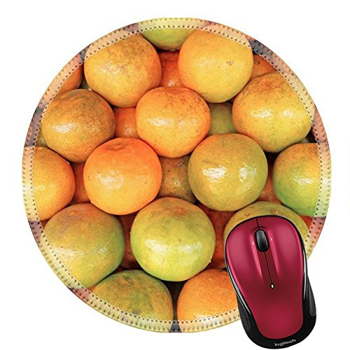 Liili Round Mouse Pad Natural Rubber Mousepad IMAGE ID: 25208579 oranges