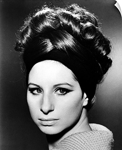 Canvas on Demand Wall Peel Wall Art Print entitled Barbra Streisand (B.1942) (60s Hairstyles Beehive)