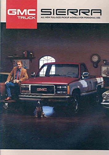 1987 GMC Sierra Pickup Truck Brochure