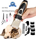 Pustor Low Noise Professional Dog Grooming Clippers Kit Rechargeable Cordless Grooming Pet Clippers For Small Medium Large Dogs or Cats