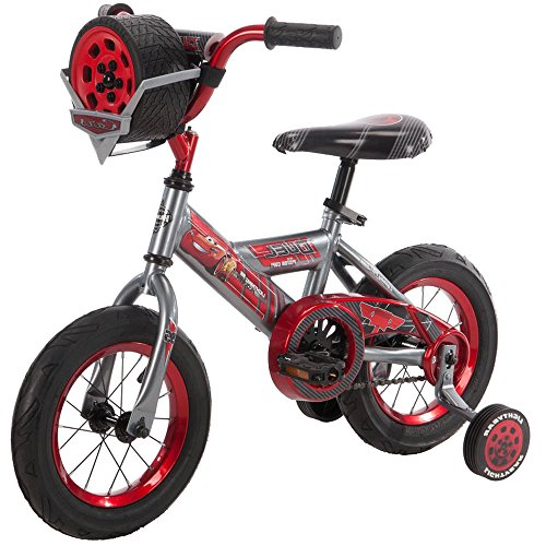 12 Inch Huffy Disney Pixar Cars Boys Kids for Boys with Sounds, Helmet and Cleaner Cloth by Huffy (Image #2)
