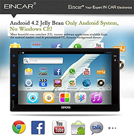 EinCar Android 5.1 Lollipop GPS Auto NO-DVD estéreo VBT Audio Car PC RDS del coche reproductor de vídeo Doble Din Electrónica Radio Receptor de audio ...