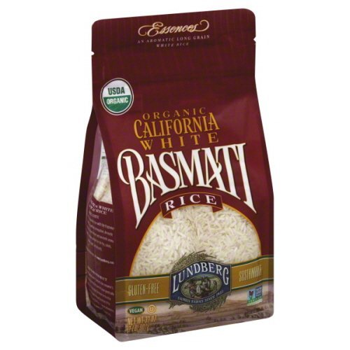 Lundberg Family Farms Organic California White Basmati Long Grain Rice 32 oz - Pack of 6 by Lundberg