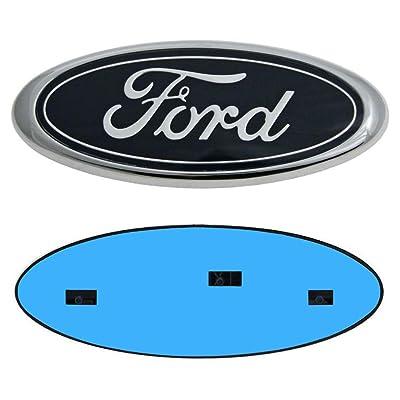 "9inch Ford Emblem, Ford Front Grille Emblem F150 Emblem Ford Tailgate Emblem Oval 9""X3.5"" Decal Badge Nameplate Also Fits for 04-14 F250 F350, 11-14 Edge, 11-16 Explorer, 06-11 Ranger: Automotive"