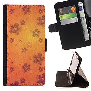 Momo Phone Case / Flip Funda de Cuero Case Cover - Wallpaper Flores Flor de la floración de Orange - Sony Xperia Z2 D6502