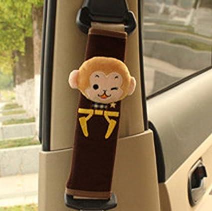 RAILONCH Cartoon-Design Auto Sicherheits Sicherheitsgurt Schulterpolster Gurtpolster Schulterkissen Autositze Gurtpolster (1 Stü ck, Fuchs)