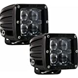 Rigid Industries 50471 D2-Series Hyperspot LED Light, (Set of 2) [Automotive]