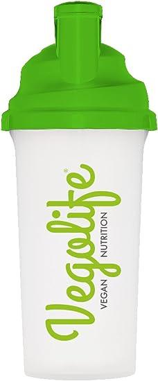 Vegolife Botella mezcladora Mix Master de 700 ml – Batido de proteínas para gimnasio – Tapa a prueba de fugas con rejilla de malla para una mezcla más ...