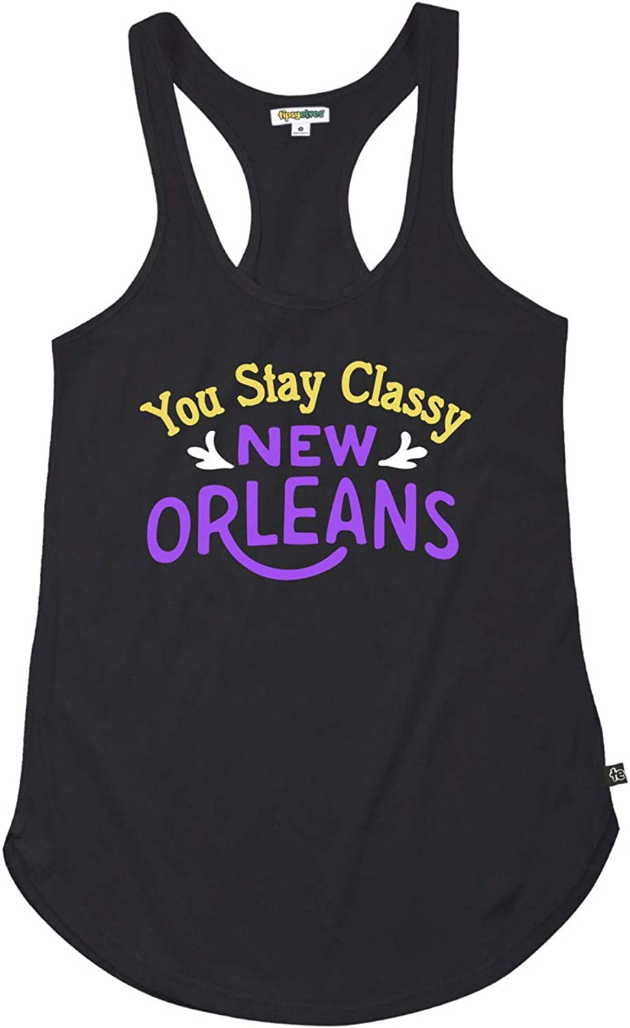 Tipsy Elves Women's Mardi Gras T Shirt Outfits - Female Funny Mardi Gras Costume Tank Tops