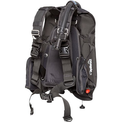 [Zeagle Express Tech Deluxe BCD with Ripcord Weight System] (Zeagle Stainless Steel Backplate)