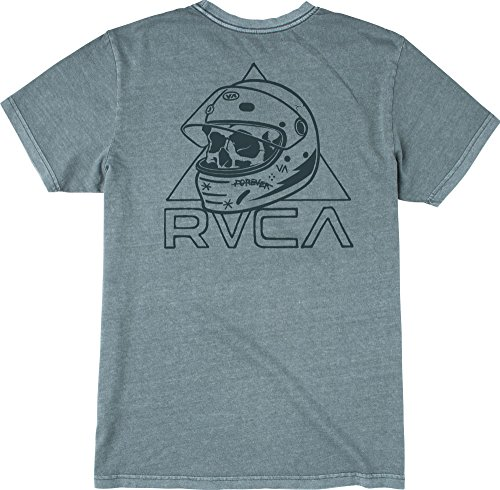 RVCA Men's Skullmet T-Shirt, Stormy Blue, Large
